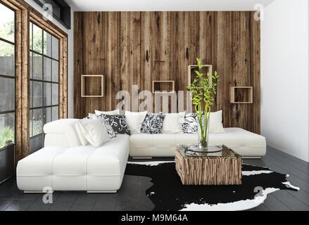 creme sofa vor fenster mit reich verzierten profilkranz und cremefarbene vorh nge im. Black Bedroom Furniture Sets. Home Design Ideas