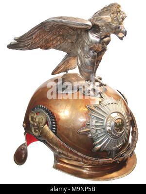 Preußische Garde-du Corps parade Helm mit Eagle top Ornament, vor Weltkrieg 1. - Stockfoto