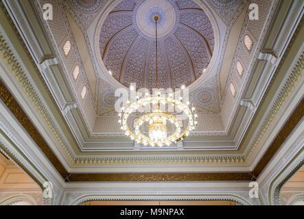 Der Innenraum der Moschee Al Manara in Dubai, Vereinigte Arabische Emirate, Naher Osten. - Stockfoto