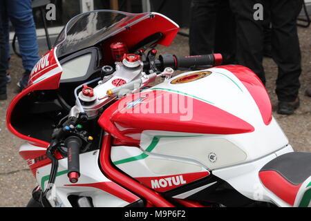 Motorräder im Ace Cafe - Stockfoto