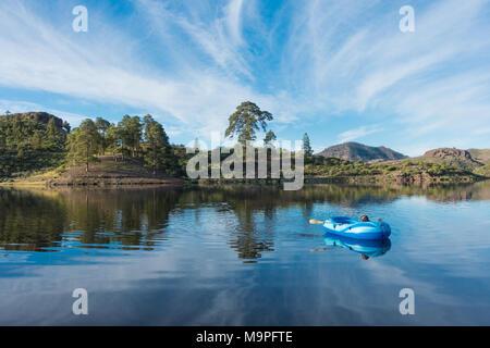 Presa de Las Ninas Bergsee auf Gran Canaria, Kanarische Inseln, Spanien - Stockfoto