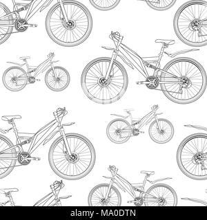 fahrrad vektor kontur zeichnen schwarzwei schwarz und wei skizze silhouette buch der. Black Bedroom Furniture Sets. Home Design Ideas