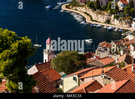 Kroatien, Dalmatien, Zadar, Altstadt, Fisherman's Viertel Dolac, Blick von der Festung Sveti Mihovil - Stockfoto