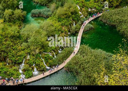 Kroatien, Kroatien, Plitvicer Seen, Nationalpark Plitvicer Seen, Unteren Seen - Stockfoto
