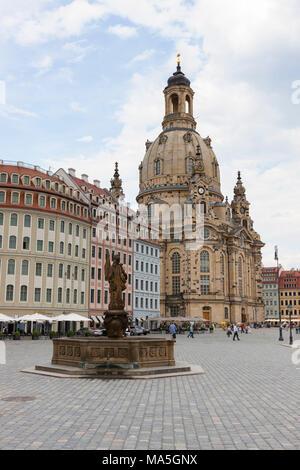 Die Frauenkirche in Dresden, Sachsen, Deutschland - Stockfoto