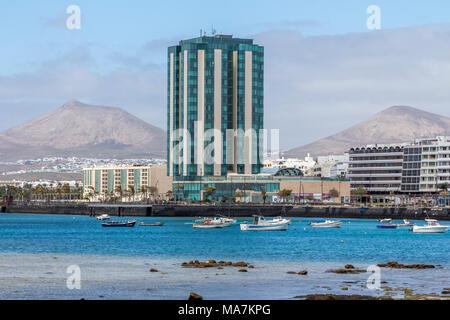 Arrecife Grand Hotel und Spa Holiday Resort kanarische Insel Lanzarote, eine spanische Insel, vor der Küste von North West Afrika 2018 - Stockfoto