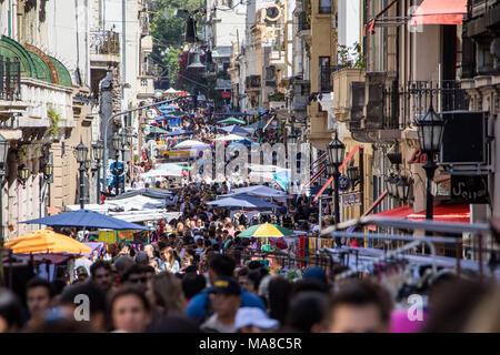 Feria de San Telmo, Markt am Sonntag, Buenos Aires, Argentinien - Stockfoto