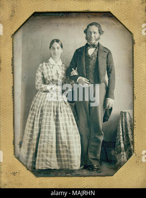 Titel: Herr und Frau Henri Pierre Chouteau. . Ca. 1850. - Stockfoto