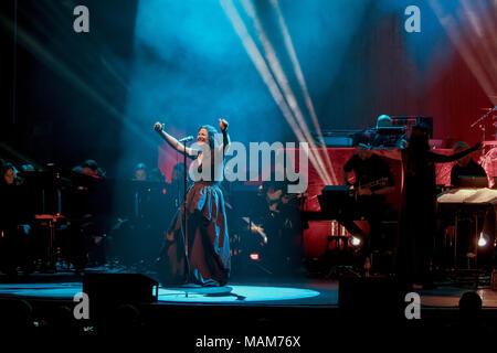 April 2, 2018 - AMY LEE Sänger der US-Band Evanescence live bei ...