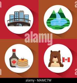 Kanada land Symbole - Stockfoto