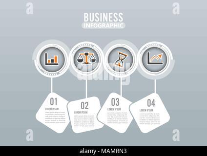 abstrakte business infografiken timeline mit schritte. Black Bedroom Furniture Sets. Home Design Ideas