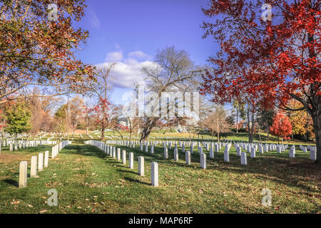 Herbst (Herbst) im Friedhof von Arlington, Washington DC USA ...