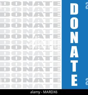 Wort Spenden, vector Hintergrund - Stockfoto