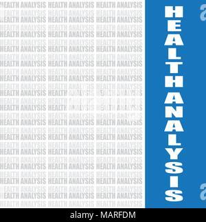 Gesundheit Analyse Wort, vector Hintergrund - Stockfoto
