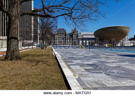 Empire State Plaza, Albany, New York, USA - Stockfoto