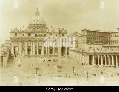 St. Peter's Square, Rom, Italien 1880 - Stockfoto
