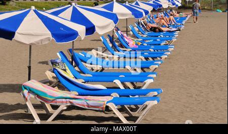 Strand Betten Teneriffa - Stockfoto