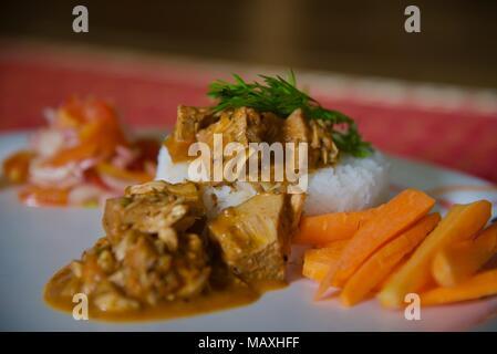 Scharfe indische Jackfruit Curry - Stockfoto