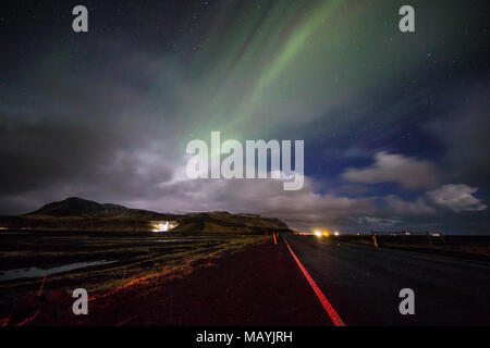 Islanda northern lights - Stockfoto