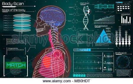 Заголовок Moderne medizinische Untersuchung im HUD Design ...