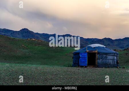 Ein ger in theGobi Wüste, Mongolei - Stockfoto