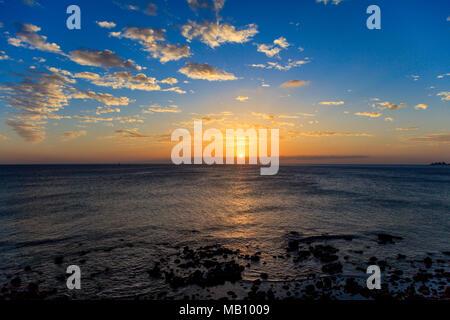 Sonnenuntergang, Insel Gran Canaria, Spanien - Stockfoto