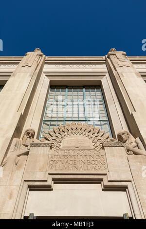 Zentralbibliothek Goodhue (1926), Downtown Los Angeles, Kalifornien, USA. - Stockfoto