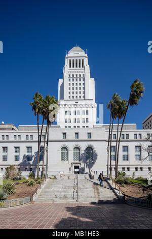 Los Angeles City Hall, Abgeschlossen 1928, Kalifornien, USA - Stockfoto
