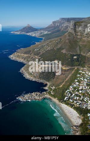 Llandudno Beach, Kapstadt, Südafrika - Antenne - Stockfoto