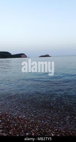Schöne Sicht auf das Meer, den Sonnenuntergang Sonnenaufgang. Hintergrund - Stockfoto