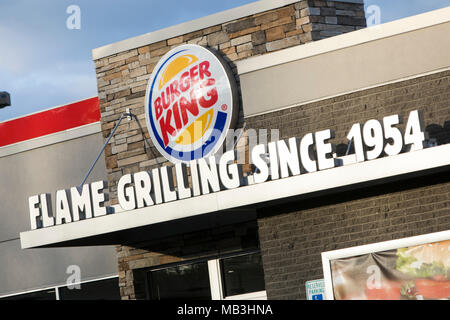 Ein Burger King fast food Restaurant Lage in Hagerstown, Maryland am 5. April 2018. - Stockfoto
