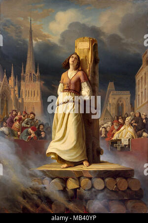 Stilke Hermann Anton - Jeanne d'Arc 3 - Jeanne d'Arc auf dem Scheiterhaufen den Tod - Stockfoto