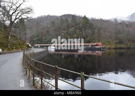 'Loch Katrine trossachs Hochland Schottlands' Trossachs 'Hochland' cotland teamship' 'Sir Walter Scott'' Die Dame vom See'' Beinn chabbair'. - Stockfoto