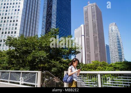 Tokyo Japan Shinjuku Mode Gakuen Cocoon Tower Center Gebäude Shinjuku Mitsui Gebäude Sompo Japan Gebäude Wolkenkratzer Asiatischen nicht - Stockfoto