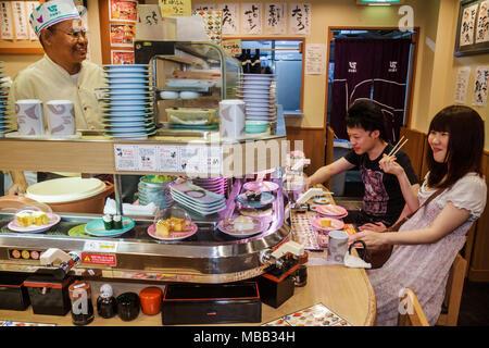 Japan, Tokio, Asien, Orient, Ikebukuro, Kanji, Hiragana, Katakana, Charaktere, Sushi-Bar, Restaurant Restaurants Essen Speisen Essen Essen Essen gehen Caf