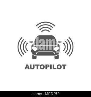Autopilot Symbol. Einfaches element Abbildung. Autopilot symbol Design aus der künstlichen Intelligenz. Kann im Web und Mobile verwendet werden. - Stockfoto