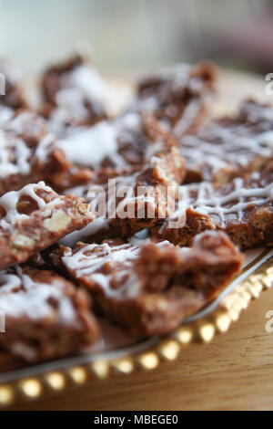 Mamas gooey Chocolate oat Bars. - Stockfoto