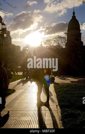 Bilder von Buenos Aires und seine Völker. Hoch- und Querformat - Stockfoto
