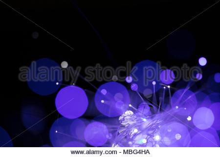 Kreative abstrakte Fiber Optics lila Hintergrund - Stockfoto