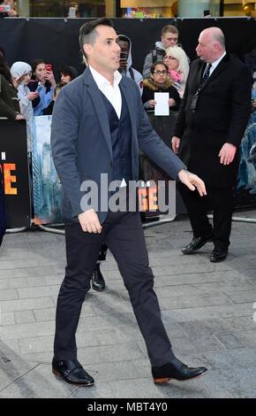 Regisseur Brad Peyton an der Europäischen Uraufführung von Rampage, im Cineworld in Leicester Square, London - Stockfoto