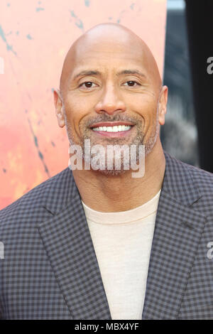 London, Großbritannien. 11. April 2018. Dwayne Johnson, Rampage - Europäische Premiere, Leicester Square, London, UK, 11. April 2018, Foto von Richard Goldschmidt Credit: Rich Gold/Alamy leben Nachrichten - Stockfoto