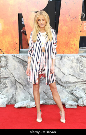London, Großbritannien. 11. April 2018. Nicola Hughes, Rampage - Europäische Premiere, Leicester Square, London, UK, 11. April 2018, Foto von Richard Goldschmidt Credit: Rich Gold/Alamy leben Nachrichten - Stockfoto