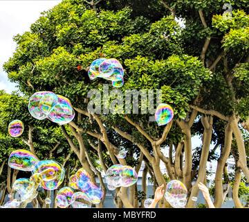 Luftblasen in der Luft - Stockfoto