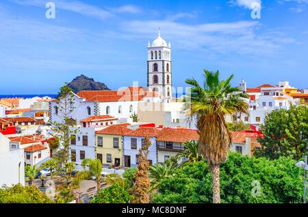 Garachico, Teneriffa, Kanarische Inseln, Spanien: Überblick über die bunte und schöne Stadt Garachico. - Stockfoto