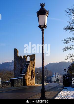 Dente Creuse - hohler Zahn Teil der Festung auf Montée de Clausen, der Stadt Luxemburg, Europa, UNESCO Weltkulturerbe - Stockfoto