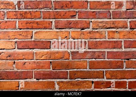 rotem Lehmziegel Wand Bau Airbrick Muster Hintergrundtextur ...