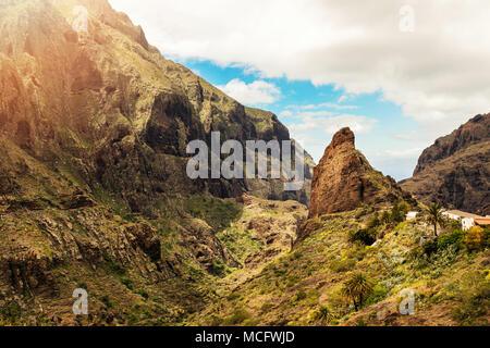 Masca Dorf Teneriffa-Kanarische Inseln-Spanien - Stockfoto