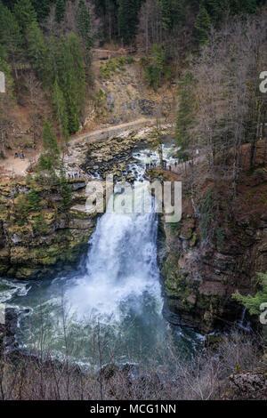 Saut du Doubs größten Wasserfall in der Region Doubs Grenze Frankreich Schweiz - Stockfoto