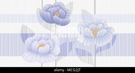 Nahtlose Blumenmuster, Vector Illustration - Stockfoto