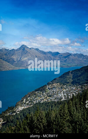 Lake Wakatipu, Queenstown, Südinsel, Neuseeland. - Stockfoto